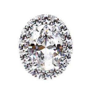 Cut Down Set Oval Diamond Halo Earrings 2 2
