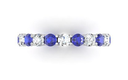 Diamond and Sapphire Claw Set Ring 2 2