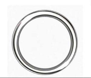Double Carre Cut Sapphire Mens Platinum Ring 3