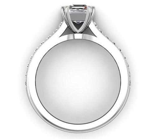 Double Claw Asscher Cut Diamond Engagement Ring 3 2