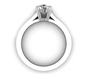 Double Prong Custom Made Oval Shaped Diamond Engagement Ring 3 2