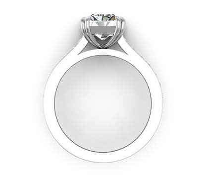 Double Prong Radiant Cut Diamond Engagement Ring 3 2
