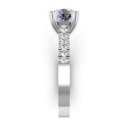 Double Prong Two Carat Round Brilliant Cut Diamond Engagement Ring 5 2