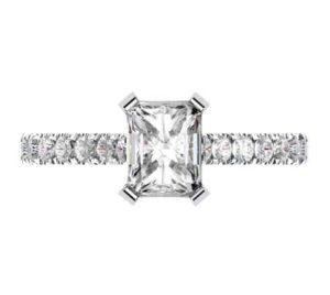 Emerald Cut Diamond Engagement Ring 2 2