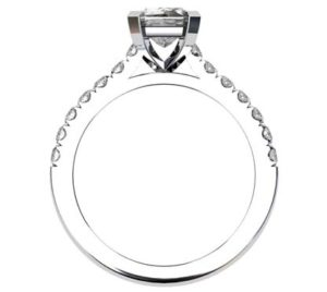 Emerald Cut Diamond Engagement Ring 3 2