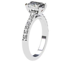 Emerald Cut Diamond Engagement Ring 4 2