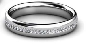 Fine Diamond Bead Set Wedding Ring in Platinum 3