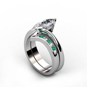 Fitted Pave Set Wedding Ring 1 2