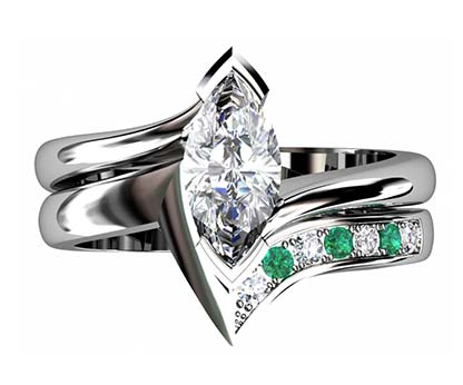 Fitted Pave Set Wedding Ring 2 2