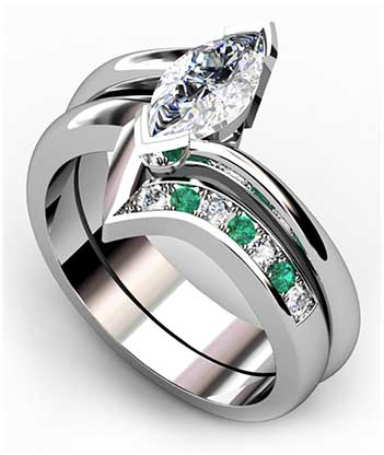 Fitted Pave Set Wedding Ring 4 2