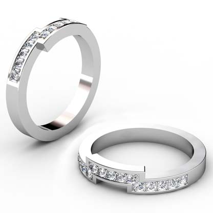 Fitted pave set weding ring 1