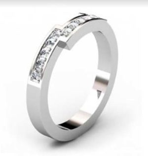 Fitted pave set weding ring 4