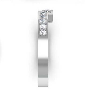 Fitted pave set weding ring 5
