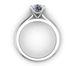 Four Claw Brilliant Cut Round Diamond Solitaire Engagement Ring 3 2