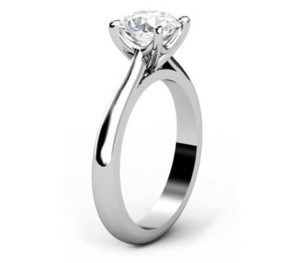 Four Claw Brilliant Cut Round Diamond Solitaire Engagement Ring 4 2