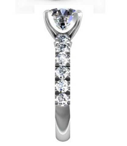 Four Claw Round Brilliant Cut Diamond Engagement Ring 5 2