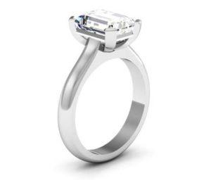 Four Claw Three Carat Emerald Cut Solitaire Diamond Ring 4 2