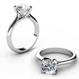 Four Prong Brilliant Cut Diamond Solitaire Diamond Ring 1 2