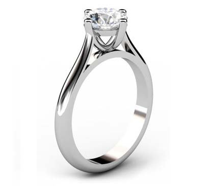 Four Prong Round Brilliant Cut Solitaire Diamond Engagement Ring 4 2