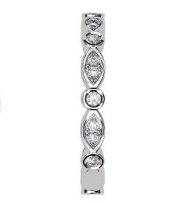 Full Band Eclipse Diamond Wedding Ring 5