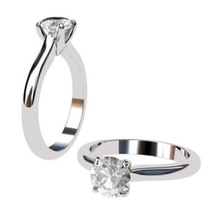 Handmade Round Brilliant Cut Solitaire Diamond Engagement Ring 1 2