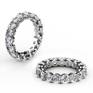 Heart Claw Set Wedding Ring 1 2