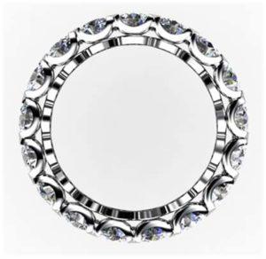 Heart Claw Set Wedding Ring 3 2