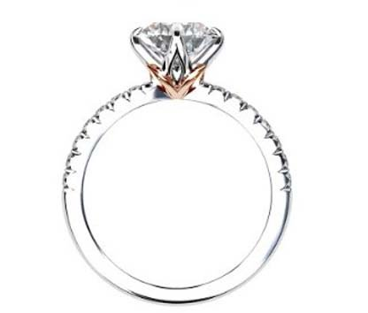Lotus Four Claw Diamond Solitaire Engagement Ring 3 2