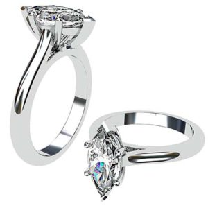 Marquise Cut Diamond Classic Solitaire Ring 1 1
