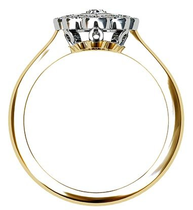 Marquise Vintage Style Halo Diamond Ring 3 2