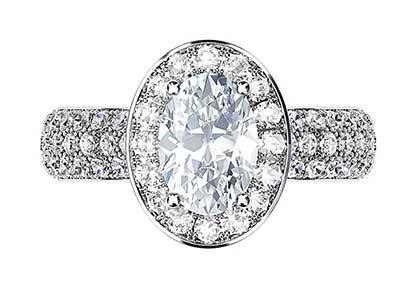 Micro Pave Set Diamond Halo Ring 2 2