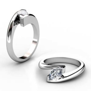 Modern Style Marquise Diamond Engagement Ring 1 2