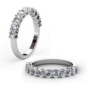 Nine stone double gallery diamond ring 1