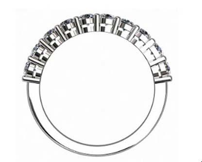 Nine stone double gallery diamond ring 3