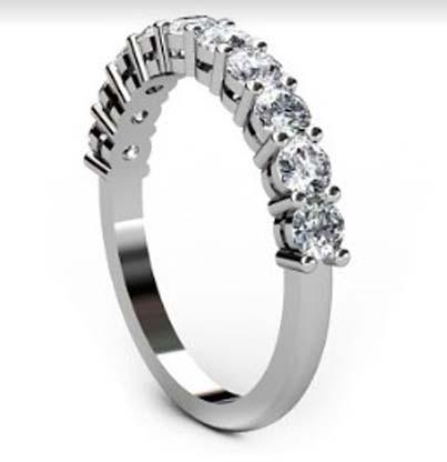 Nine stone double gallery diamond ring 4