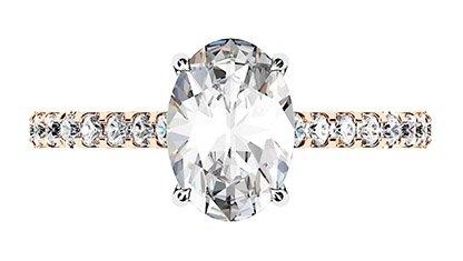 Oval Cut Diamond Ring with Hidden Halo 2 2