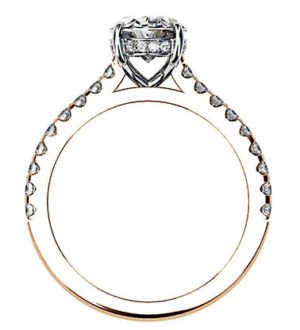 Oval Cut Diamond Ring with Hidden Halo 3 2