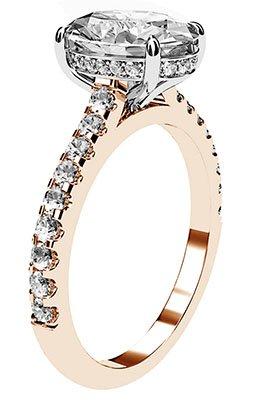 Oval Cut Diamond Ring with Hidden Halo 4 2