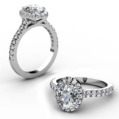 Oval Diamond Halo Engagement Ring 1 2