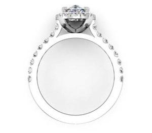Oval Diamond Halo Engagement Ring 3 2
