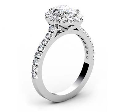 Oval Diamond Halo Engagement Ring 4 2