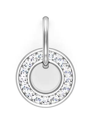 Pave Set Circle of Diamond Earrings 2 2