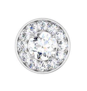 Pave Set Diamond Halo Earrings 3 2