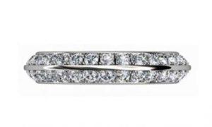 Pave set knife edge diamond ring 2