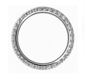 Pave set knife edge diamond ring 4
