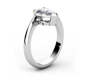 Pear Cut Solitaire Engagement Ring with Twisted Band 4 2