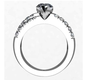 Pear Shape Diamond Engagement Ring with Crossover Band 3 2