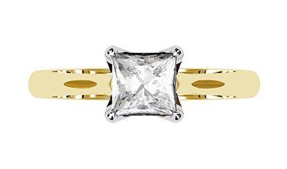 Petal Style Princess Cut Solitaire Diamond Ring 2 2