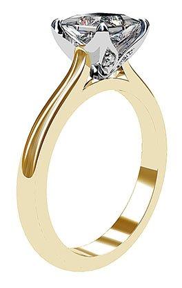 Petal Style Princess Cut Solitaire Diamond Ring 4 2