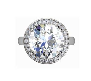 Princess Cut Diamond Halo Engagement Ring 2 3 2